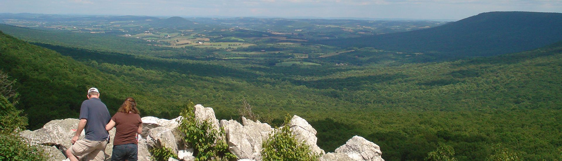 The view from Hawk Mountain.